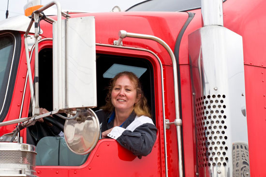 Lady truck driver