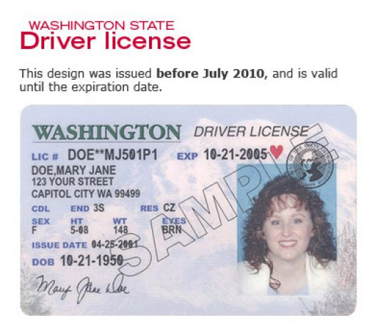 sample of a commercial driver license